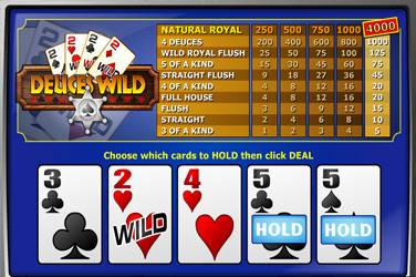 Play Deuces Wild Mh By Playngo For Free