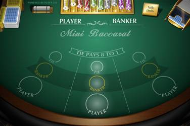 Mini baccarat Play n Go