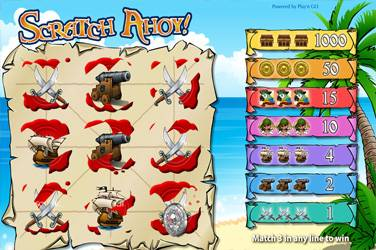Scratch ahoy Play n Go