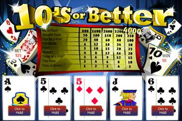 Poker Tens or Better 2